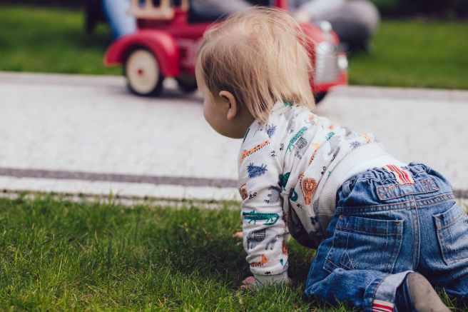 baby blur child grass